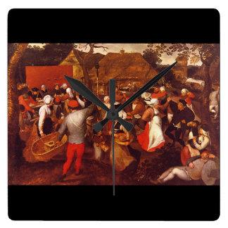 村Holiday', Pieter_Dutchのマスター スクエア壁時計