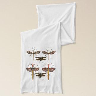 杖、Katydidsおよびトンボ スカーフ