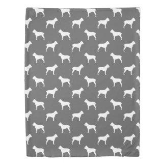 杖Corsoはパターン灰色のシルエットを描きます 掛け布団カバー