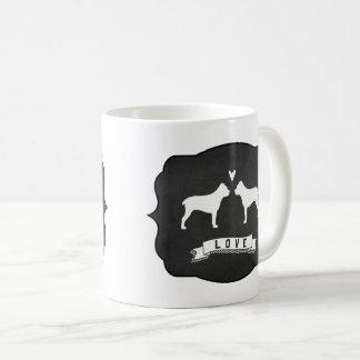 杖Corsoは愛のシルエットを描きます コーヒーマグカップ