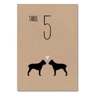 杖Corsoは結婚式のテーブルカードのシルエットを描きます カード