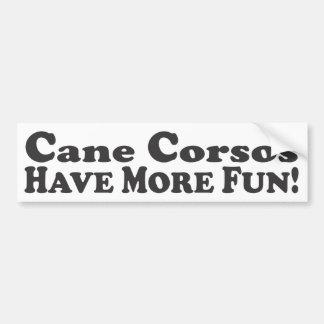 杖Corsosはより多くの楽しい時を過します! -バンパーステッカー バンパーステッカー