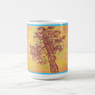杜松の木の日没 コーヒーマグカップ