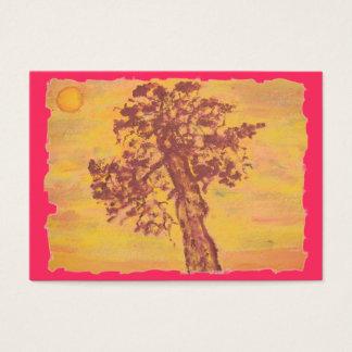 杜松の木の日没 名刺