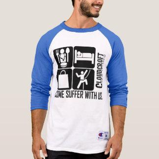 来られる撃退している私達と苦しんで下さい Tシャツ