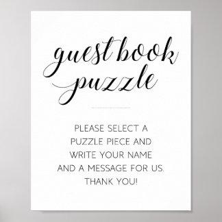 来客名簿のパズルの結婚式の印- Alejandra ポスター