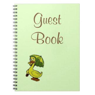 来客名簿のヴィンテージのゴム製アヒルのテーマのベビーシャワー ノートブック
