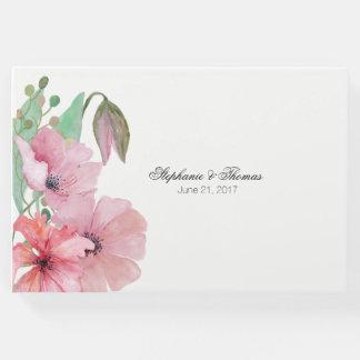 来客名簿を結婚しているピンクのケシ ゲストブック