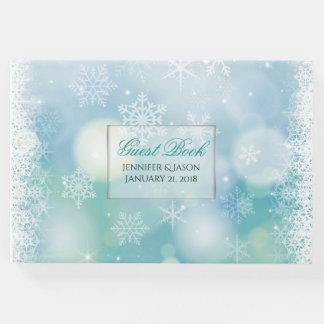 来客名簿を結婚する冬の雪片 ゲストブック