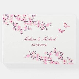 来客名簿を結婚する桜 ゲストブック