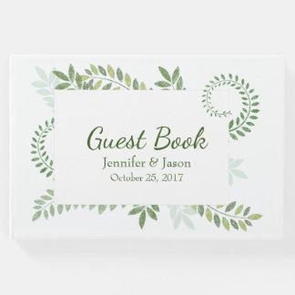 来客名簿を結婚する緑のシダ ゲストブック