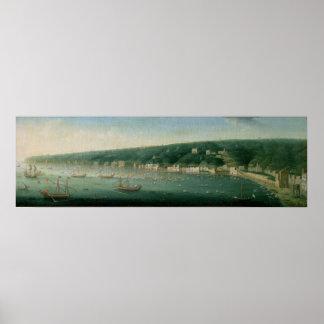 東からのナポリ、1730年の眺め ポスター
