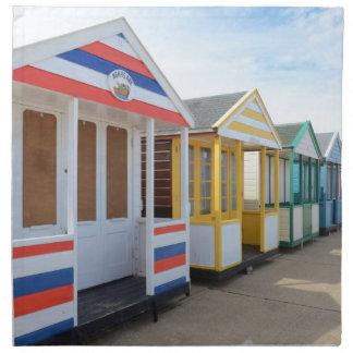 東のイギリスのビーチ小屋 ナプキンクロス