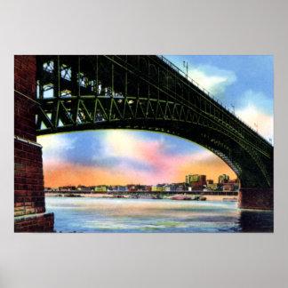 東のセントルイスへのセントルイスミズーリEads橋 ポスター