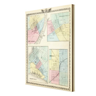 東のセントルイス、Mt Carmel、JerseyvilleおよびMendota キャンバスプリント