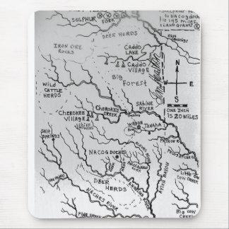 東のテキサス州1836年の地図 マウスパッド