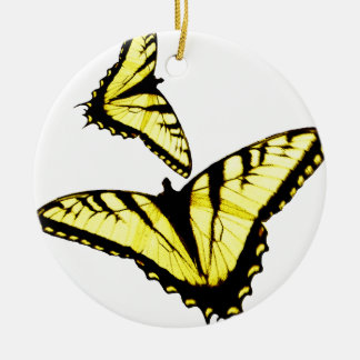 東のトラのアゲハチョウの蝶写真 セラミックオーナメント