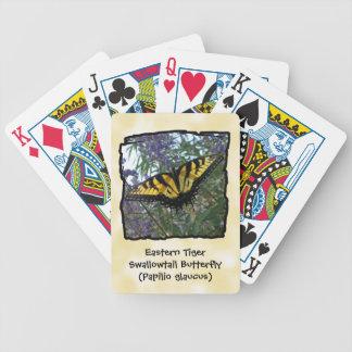 東のトラのアゲハチョウの蝶 バイスクルトランプ