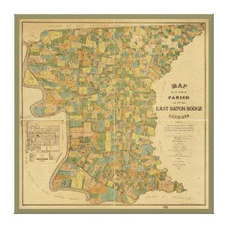 東のバトン・ルージュ、ルイジアナのの教区地図(1895年) キャンバスプリント