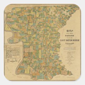 東のバトン・ルージュ、ルイジアナのの教区地図(1895年) スクエアシール
