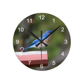 東のブルーバード ラウンド壁時計