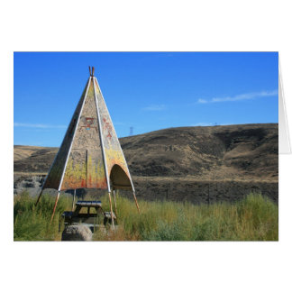 東のワシントン州のテント小屋 カード