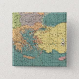 東の地中海の 5.1CM 正方形バッジ