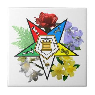 東の星の花柄のタイル タイル