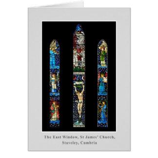 東の窓、セントジェームズの教会、Staveley、Cumbria カード