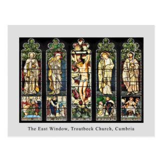 東の窓、Troutbeck教会、Cumbria ポストカード