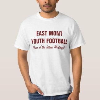 東のMontの青年フットボールTの白 Tシャツ