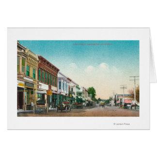 東のStreetHealdsburg、カリフォルニアの眺め カード
