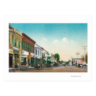 東のStreetHealdsburg、カリフォルニアの眺め ポストカード