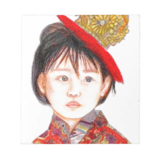 東アジアの子供 ノートパッド