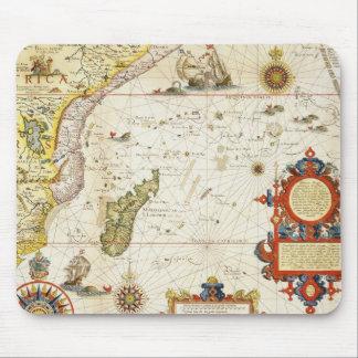 東アフリカおよびマダガスカル1596年の地図(手のcolo マウスパッド