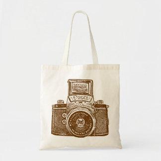 東ドイツのカメラ-ブラウン トートバッグ