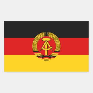 東ドイツの旗のステッカー 長方形シール