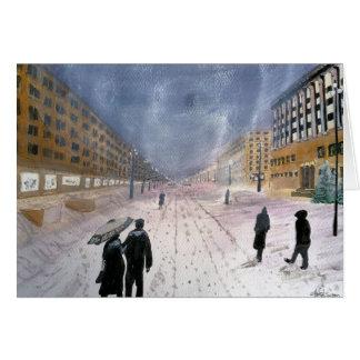 東ヨーロッパの冬カード カード