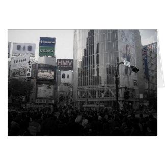 東京の忙しい交差 カード