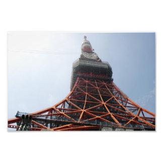 東京タワーのクローズアップ フォトプリント