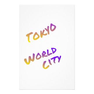東京世界都市、多彩な文字の芸術 便箋