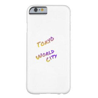 東京世界都市、多彩な文字の芸術 BARELY THERE iPhone 6 ケース