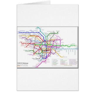 東京地下鉄の地図 カード