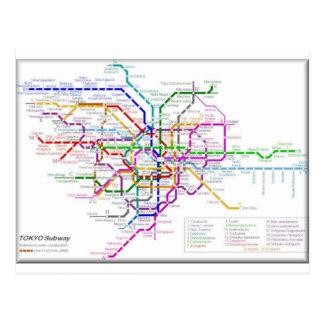 東京地下鉄の地図 ポストカード