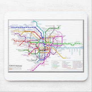 東京地下鉄の地図 マウスパッド