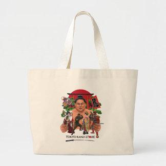 東京漢字の店の世界 ラージトートバッグ