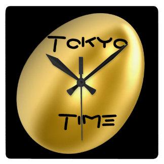 東京都市柱時計! スクエア壁時計