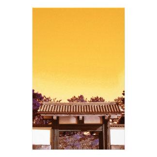 東京、日本の寺院のゲート 便箋