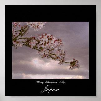 東京、日本の桜のポスター ポスター
