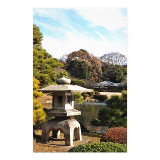 東京、日本の禅の庭 便箋